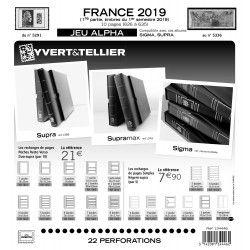 Jeux ALPHA France 2019 premier semestre sans pochettes de protection.