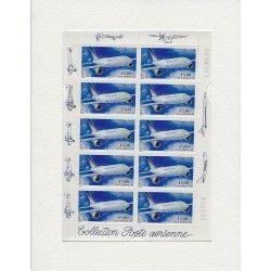 """Feuillet de timbres poste aérienne """"Airbus A300-B4"""" neuf** SUP."""