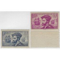 Cartier, timbres de France N°296-297 série neuf** SUP.