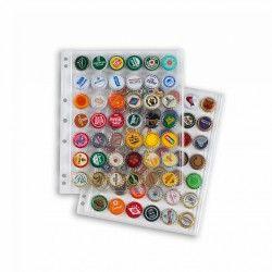 Recharges transparentes pour album illustré capsules de bières, sodas.