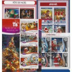 Noel 20 blocs-feuillets de timbres thématiques.