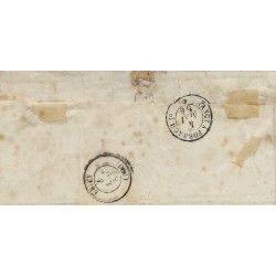 Empire non dentelé N°15 oblitéré sur pli de Nancy pour Briey 1854, TB.