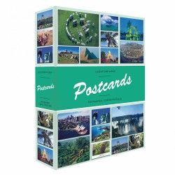 """Album illustré """"Postcards"""" pour 200 cartes postales."""