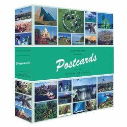 """Album illustré """"Postcards"""" pour 600 cartes postales."""