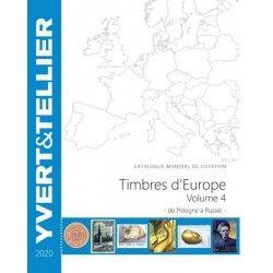 Catalogue de cotation Yvert timbres d'Europe Pologne à Russie.