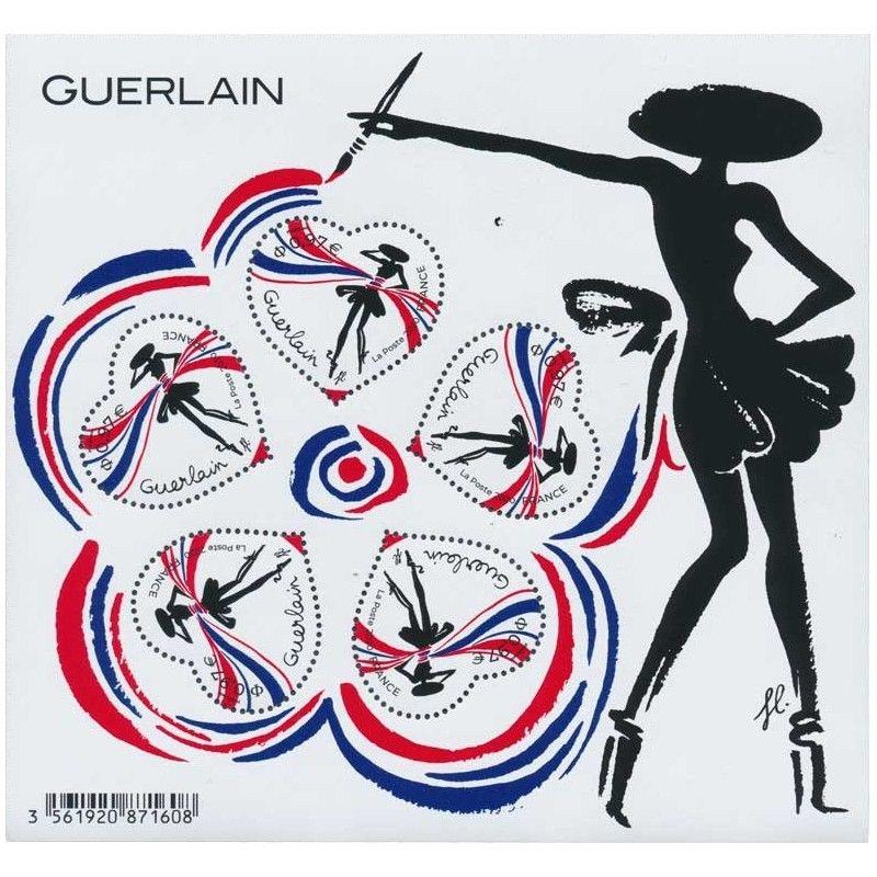 """Bloc-feuillet de timbres """"Cœur - Guerlain"""" neuf** SUP."""