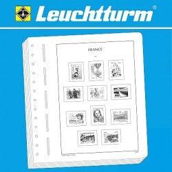 Feuilles pré imprimées Leuchtturm France 2018 sans pochettes.