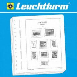 Feuilles pré imprimées Leuchtturm Andorre Français 1990-2009.