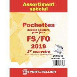 Assortiment de pochettes pour jeux FO/FS France 2019 deuxième semestre.
