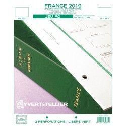 Jeux FO timbres de France 2019 deuxième semestre.