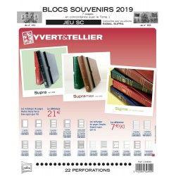 Jeux SC France blocs souvenirs 2019 avec pochettes de protection.