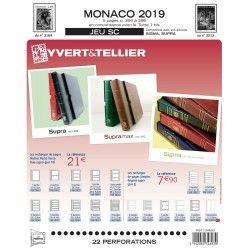 Jeux SC timbres de Monaco 2019 avec pochettes de protection.