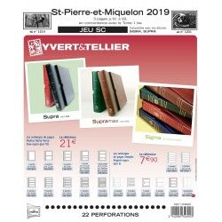 Jeux SC timbres de Saint Pierre et Miquelon 2019 avec pochettes de protection.
