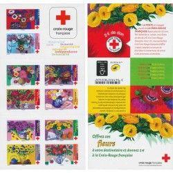 Carnet de timbres Croix-Rouge autoadhésifs émis en 2018.