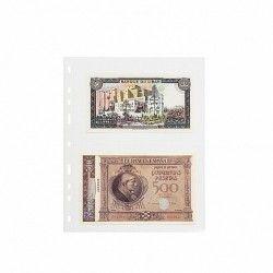 Pochettes plastique souple Optima pour cartes postales, billets de banque.