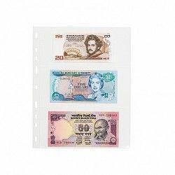 Pochettes plastique souple Optima pour billets de banque.