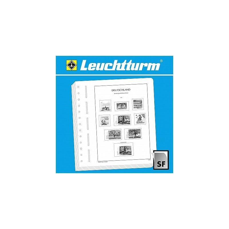 Feuilles pré imprimées Leuchtturm RFA, coins de feuilles 2005-2009.