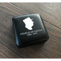 Écrin historique pour pièce de 2 euro Charles de Gaulle 2020.