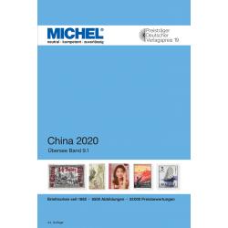 Catalogue de cotation Michel timbres de Chine 2020.