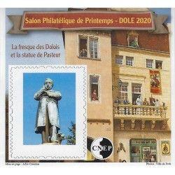 """Bloc C.N.E.P. N°83a """"La fresque des Dolois - Pasteur"""" 2020 non dentelé."""