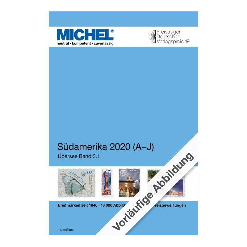 Catalogue de cotation Michel timbres d'Amérique du Sud 2020. (A - J)