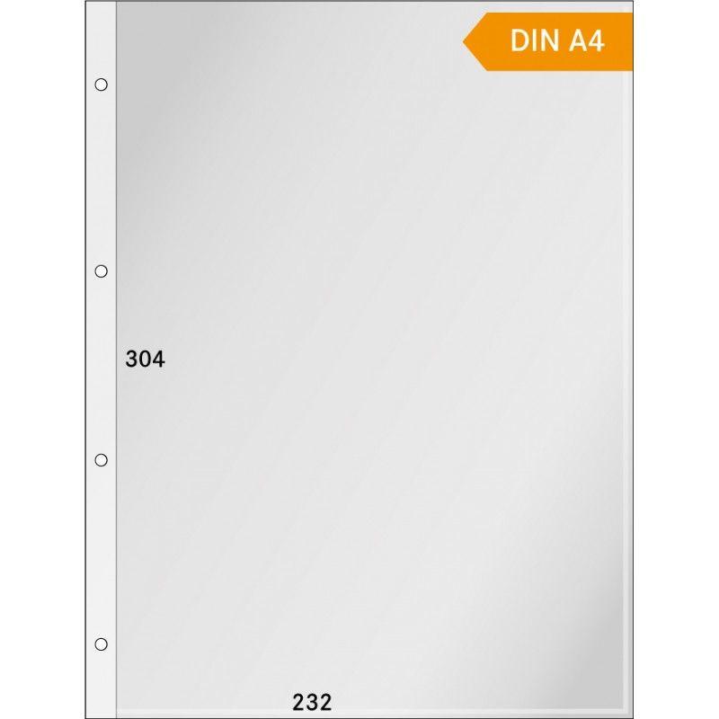 Gaines cristal format A4 ouverture en haut - paquet de 100.