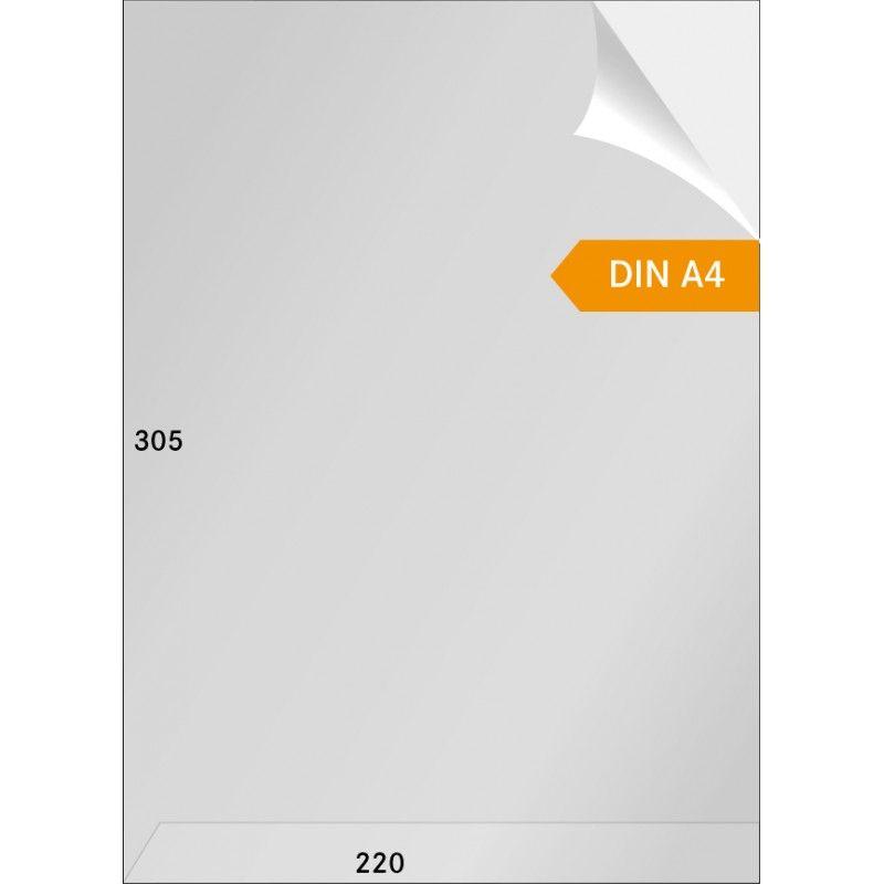 Gaines cristal format A4 ouverture en haut et sur un coté - paquet de 100.