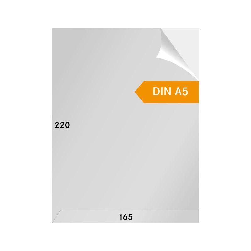 Gaines cristal format A5 ouverture en haut et sur un coté - paquet de 100.