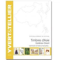 Catalogue Yvert et Tellier de cotation timbres d'Asie Extrême Orient (Chine-Japon) 2020.