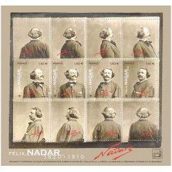 Mini-feuille de 4 timbres Félix Nadar neuf** SUP.