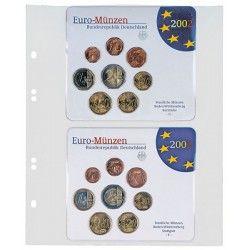 Feuilles numismatiques Multi-Collect pour 2 séries Euro Allemagne FDC.
