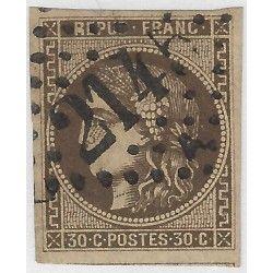 Bordeaux timbre de France N° 47d oblitéré SUP.