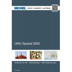 Catalogue de cotation Michel spécialisé timbres ONU 2020.