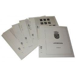Feuille pré imprimée Lindner-T Luxembourg 24 Timbres Roulettes sans valeur faciale.
