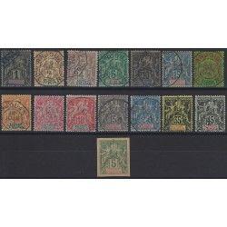 Anjouan 1892-1907 sélection de timbres oblitérés TBE.