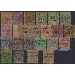 Anciennes colonies françaises timbres type Groupe oblitérés, TBE.