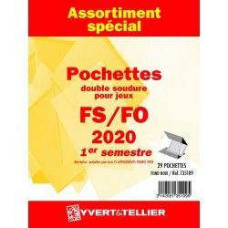 Assortiment de pochettes pour jeux FO/FS France 2020 premier semestre.