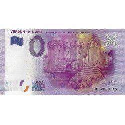 Billet Euro souvenir Verdun 1916 - 2016 neuf SUP.