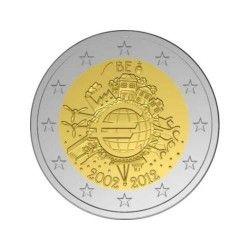 2 euros commémorative Belgique 2012 - 10 ans de l'Euro.