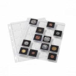 Feuilles plastiques Snap pour 20 capsules Quadrum Leuchtturm.