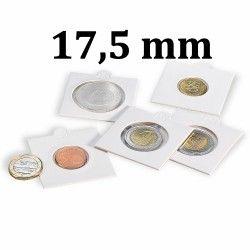 Etui numismatique blanc Matrix pour monnaies jusqu'à 17,5 mm.