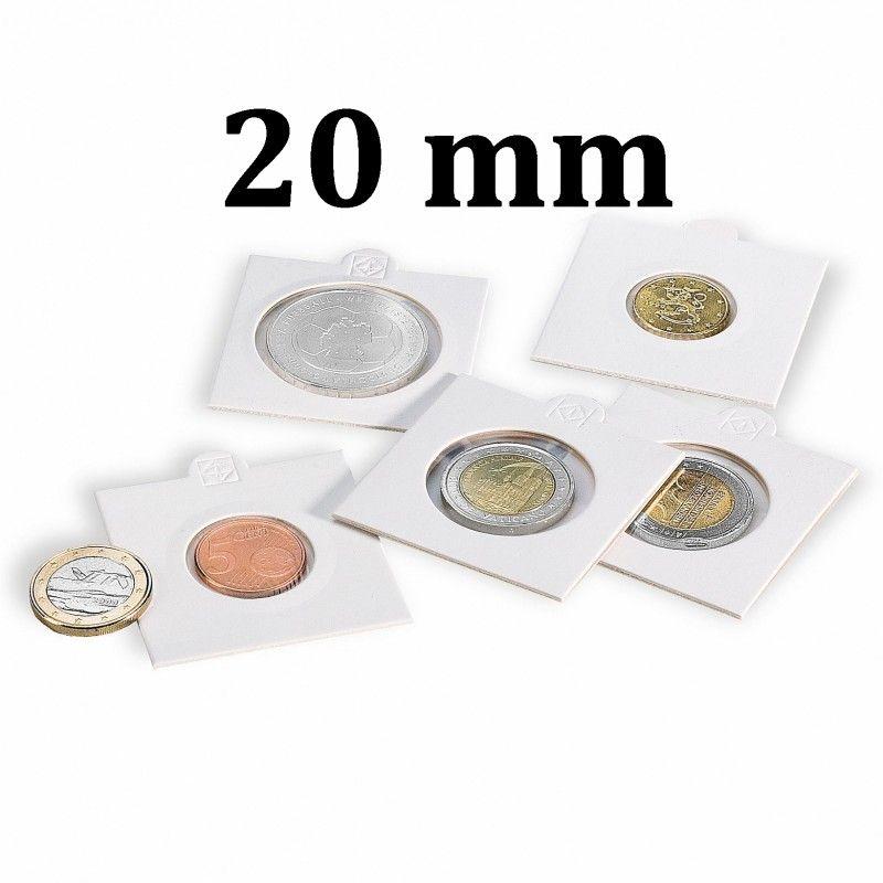 Etui numismatique blanc Matrix pour monnaies jusqu'à 20 mm.