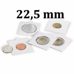 Etui numismatique blanc Matrix pour monnaies jusqu'à 22,5 mm.