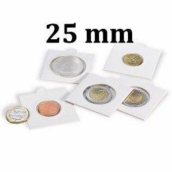 Etui numismatique blanc Matrix pour monnaies jusqu'à 25 mm.