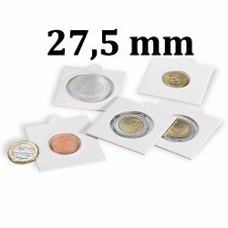Etui numismatique blanc Matrix pour monnaies jusqu'à 27,5 mm.