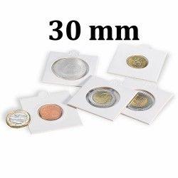 Etui numismatique blanc Matrix pour monnaies jusqu'à 30 mm.