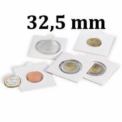 Etui numismatique blanc Matrix pour monnaies jusqu'à 32,5 mm.