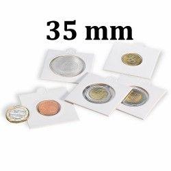 Etui numismatique blanc Matrix pour monnaies jusqu'à 35 mm.