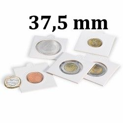 Etui numismatique blanc Matrix pour monnaies jusqu'à 37,5 mm.