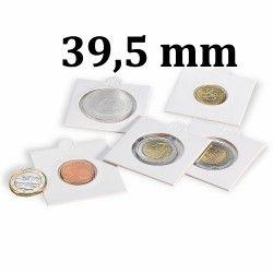Etui numismatique blanc Matrix pour monnaies jusqu'à 39,5 mm.